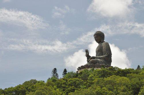 Buddha on the hill