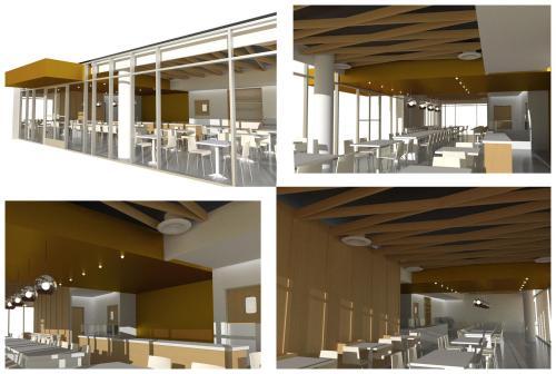 cafe rendering